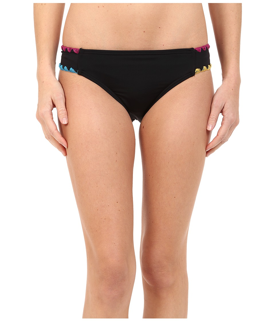 Lucky Brand - Night Dreamer Tab Hipster (Black) Women's Swimwear