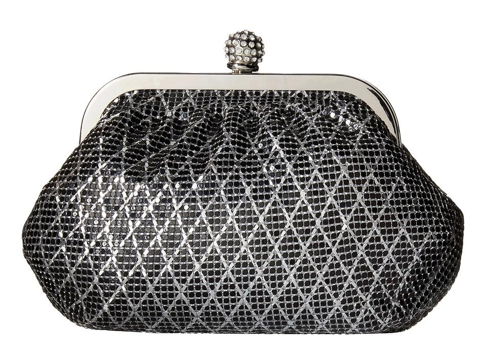 Jessica McClintock - Mesh Frame (Black/Silver) Clutch Handbags
