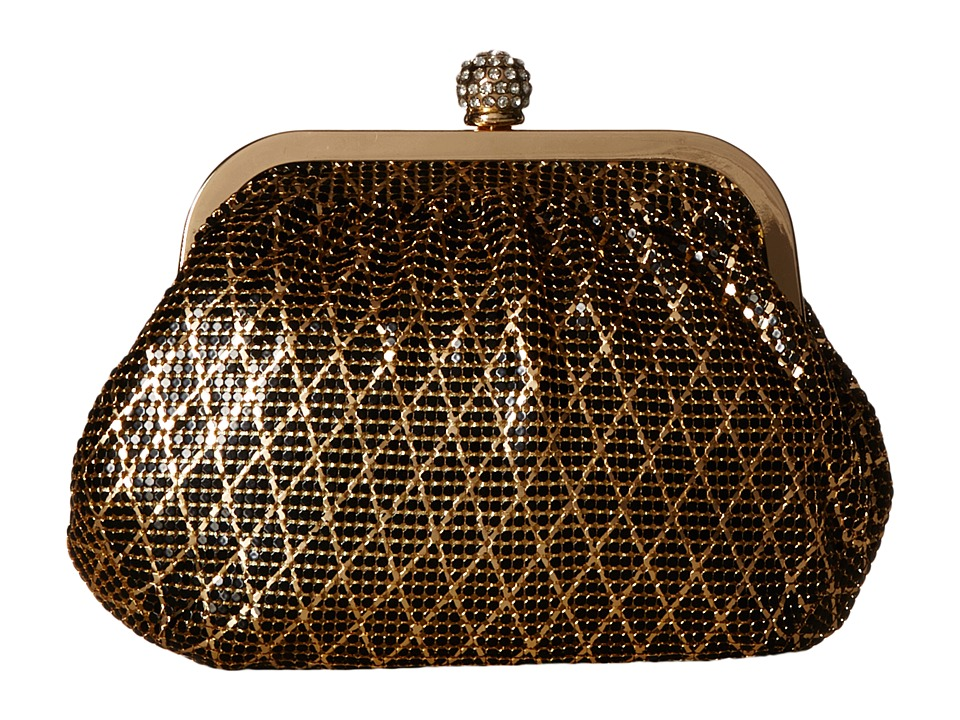 Jessica McClintock - Mesh Frame (Black/Gold) Clutch Handbags