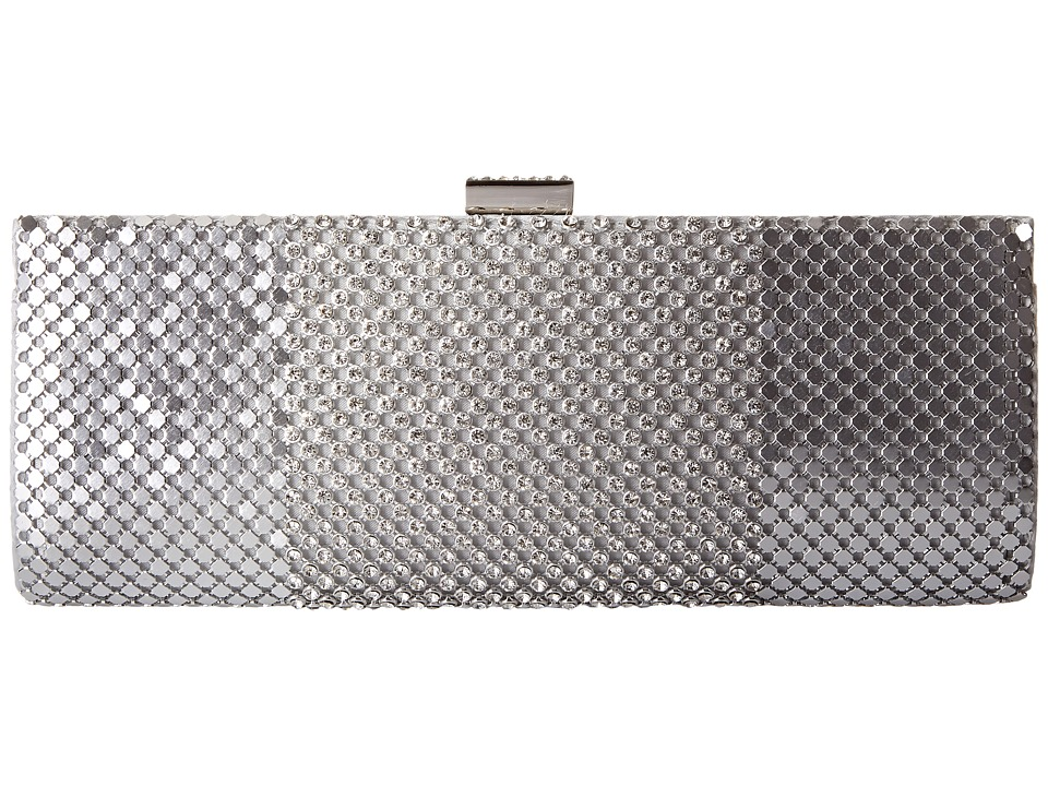 Jessica McClintock - Bailey Dramed Mesh Clutch (Silver) Clutch Handbags