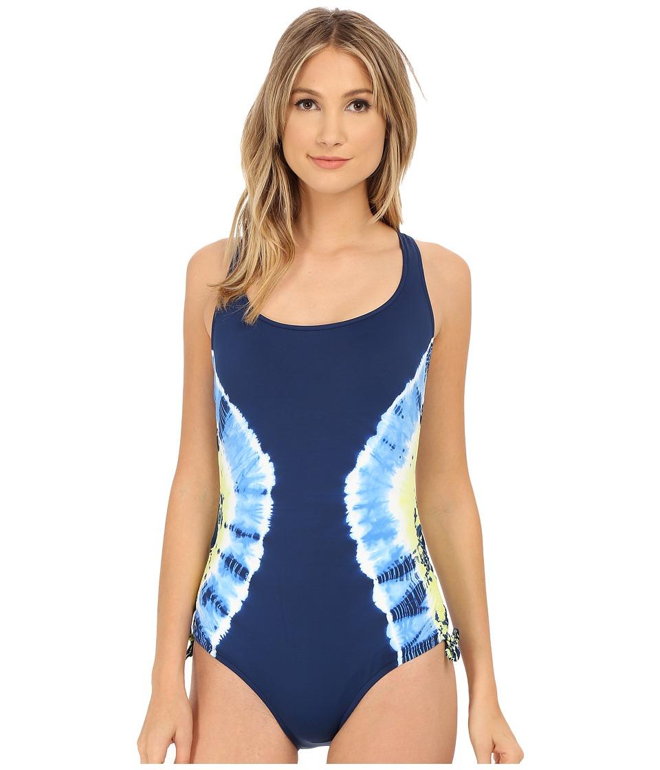 Lucky Brand - Half Moon One-Piece (Indigo) Women's Swimsuits One Piece