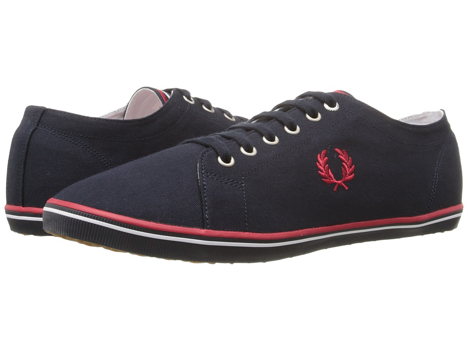 Fred Perry - Kingston Twill (Navy/Red/White) Men's Lace up casual Shoes