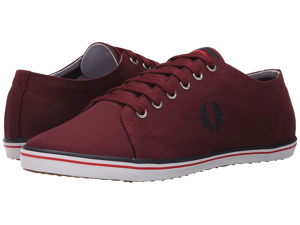 Fred Perry - Kingston Twill (Port/Navy/Blood) Men's Lace up casual Shoes