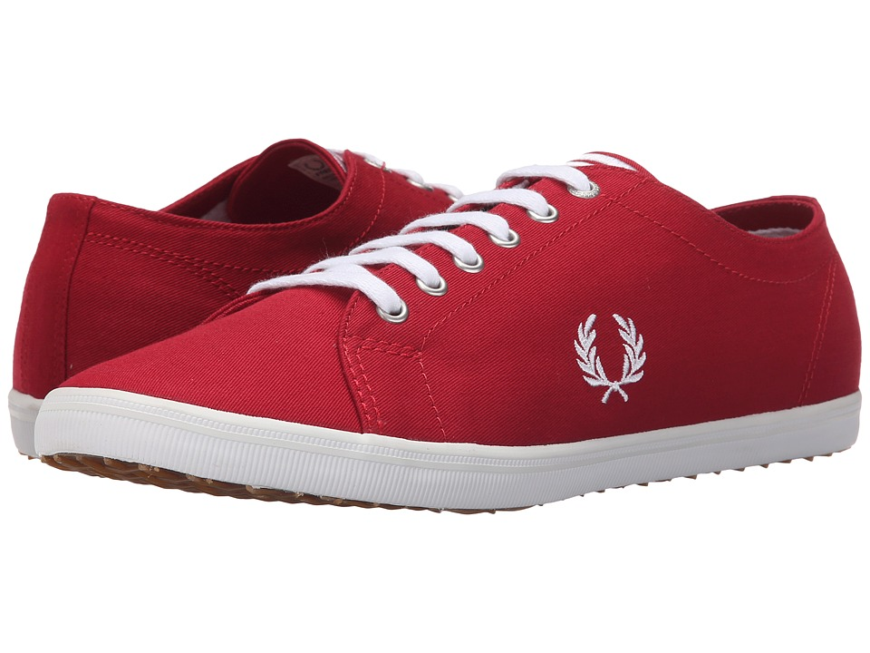 Fred Perry - Kingston Twill (Blood/White) Men's Lace up casual Shoes