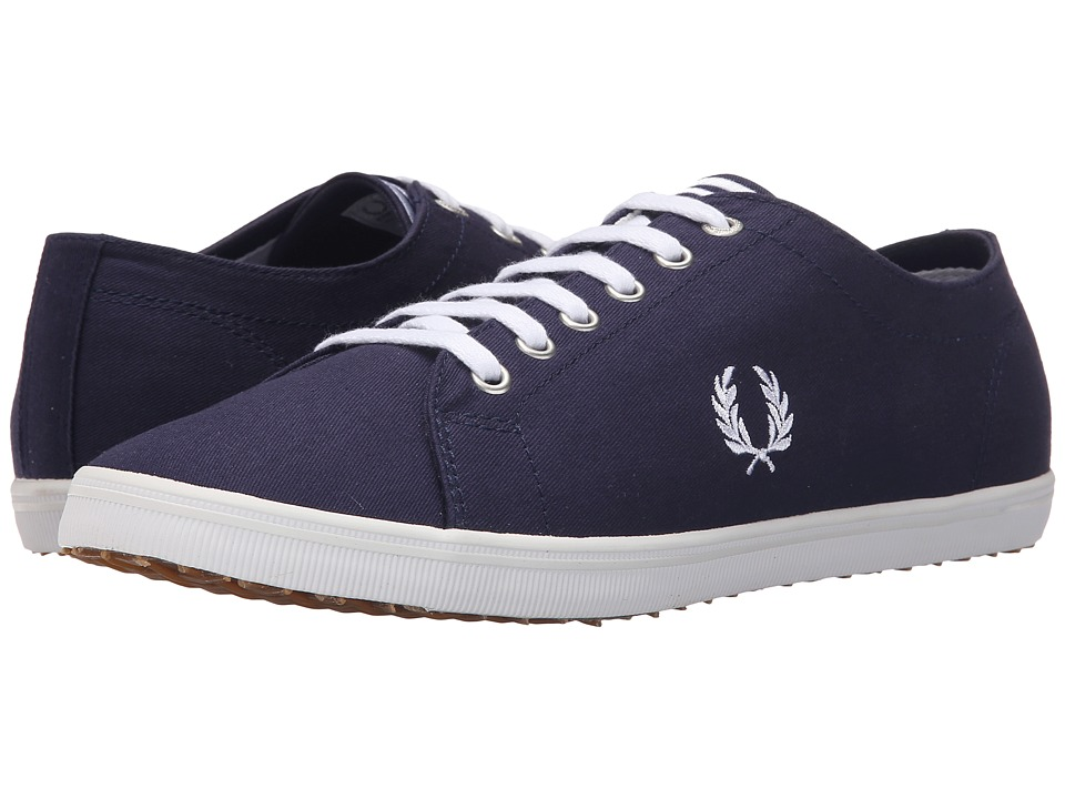 Fred Perry - Kingston Twill (Carbon Blue/White) Men's Lace up casual Shoes