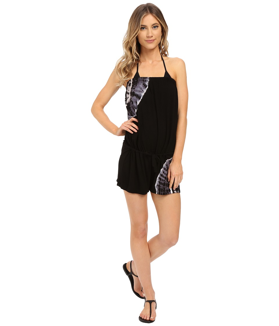 Lucky Brand - Half Moon Drawcord Romper (Black) Women's Jumpsuit & Rompers One Piece