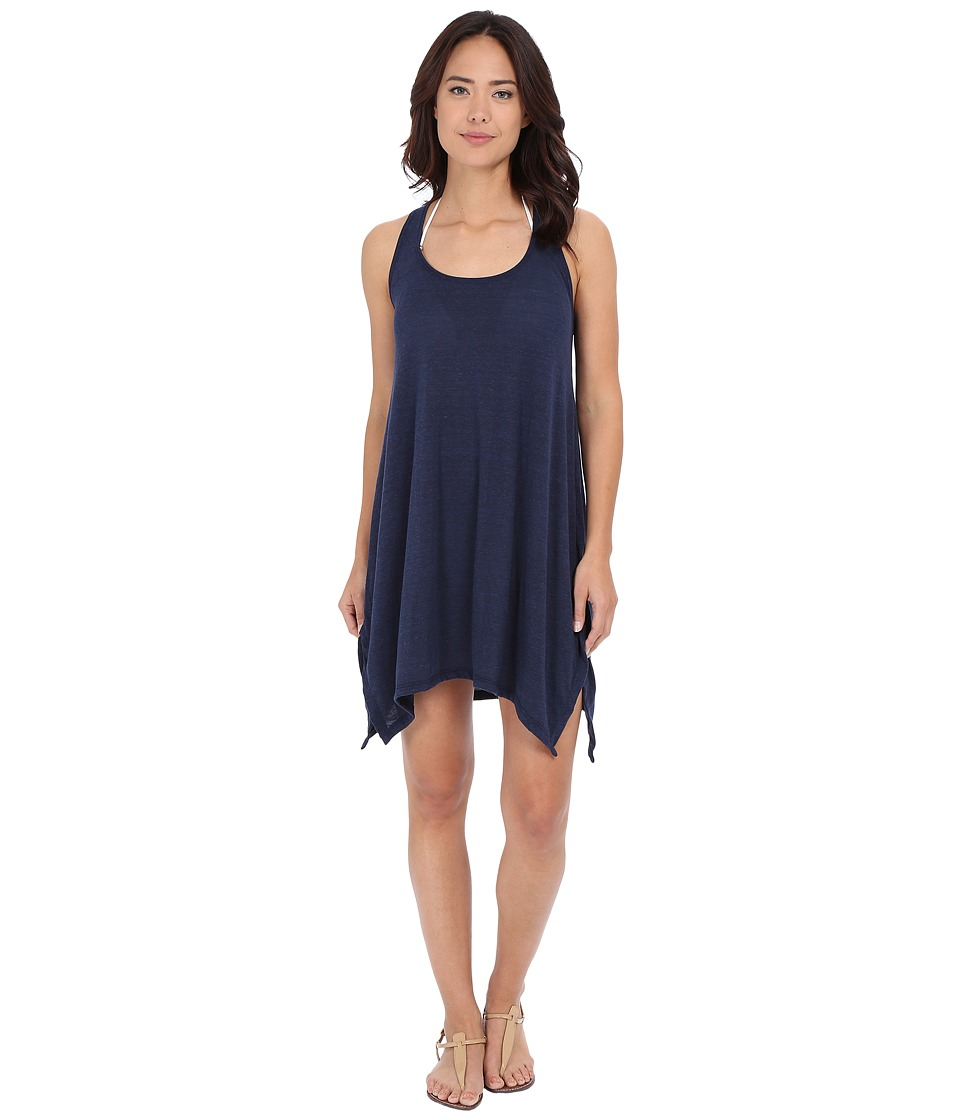 Lucky Brand - Bloom Village Dress Cover-Up (Indigo) Women's Swimwear