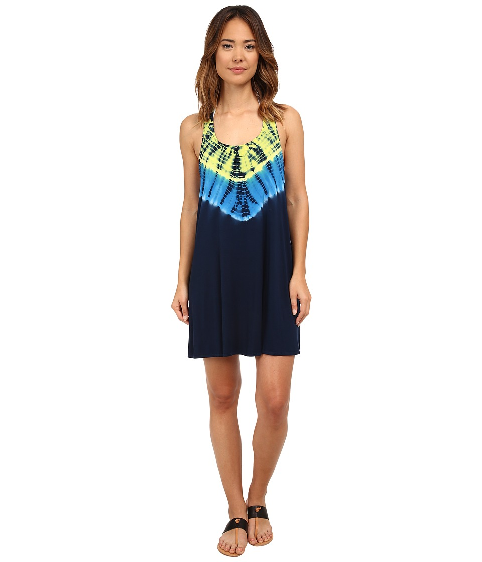Lucky Brand - Half Moon Dress Cover-Up (Indigo) Women's Swimwear