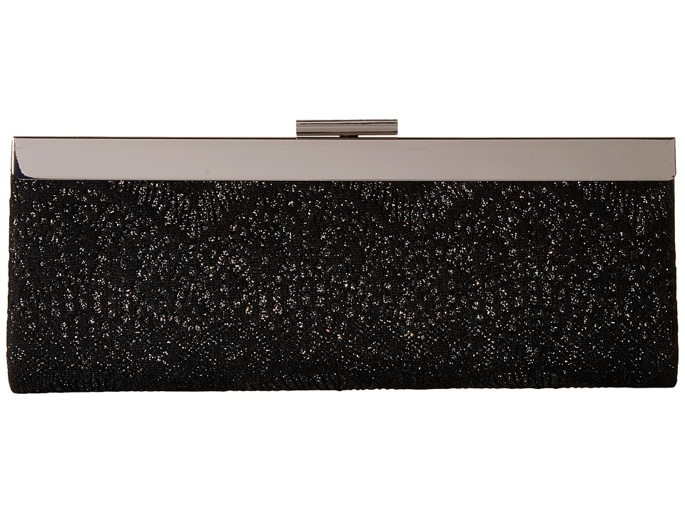 Jessica McClintock - Kylie Framed Lace Clutch (Black/Black) Clutch Handbags