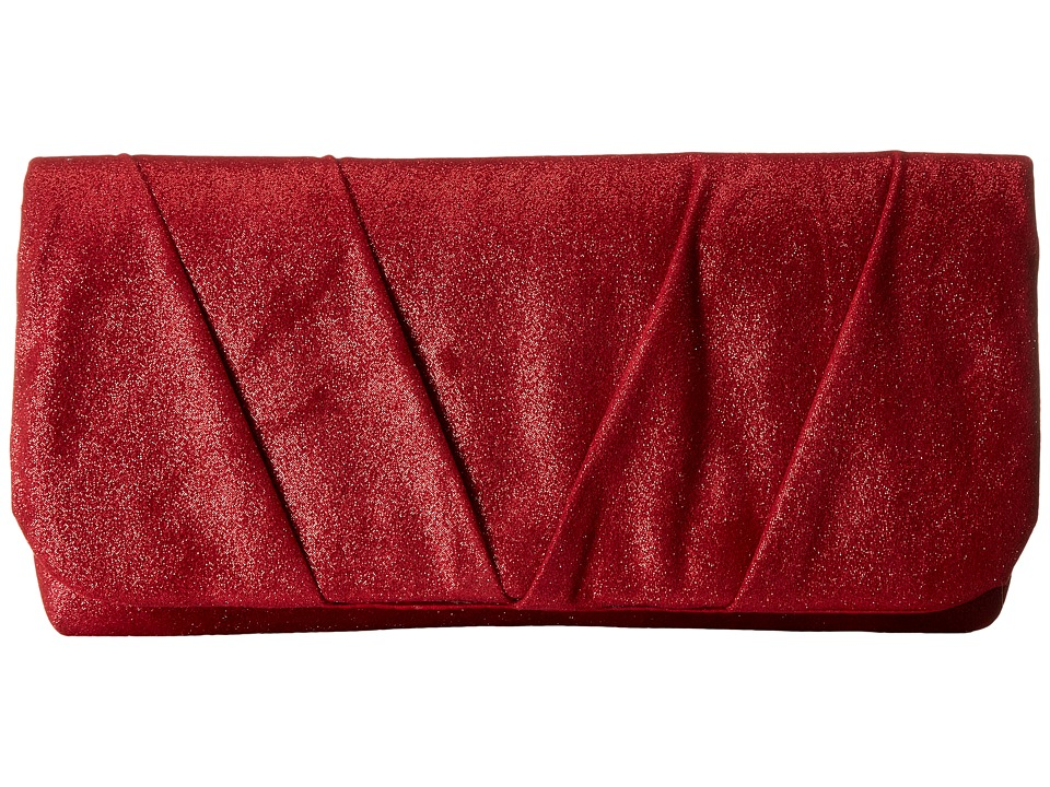 Jessica McClintock - Sienna Fold-Over Flap Clutch (Red) Clutch Handbags