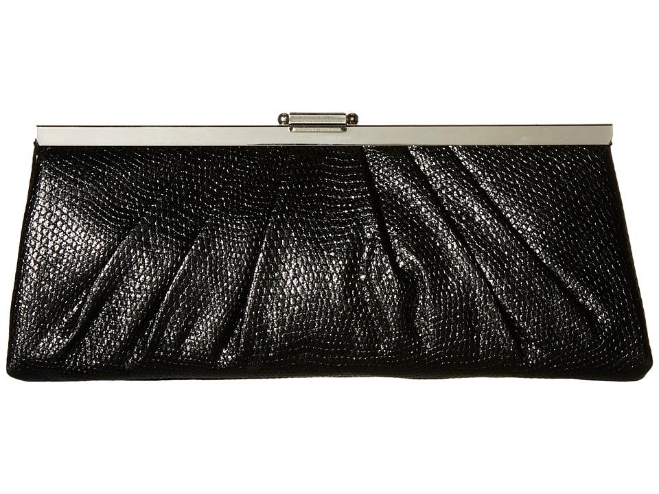 Jessica McClintock - Blaire Framed Clutch (Black) Clutch Handbags