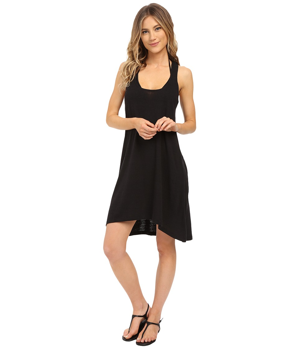 Lucky Brand - Natural Fever Dress Cover-Up (Black) Women's Swimwear