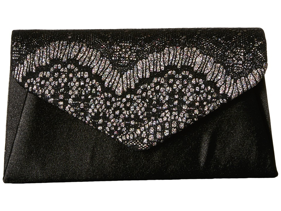 Jessica McClintock - Lily Small Lace Envelope Clutch (Black/Multi) Clutch Handbags