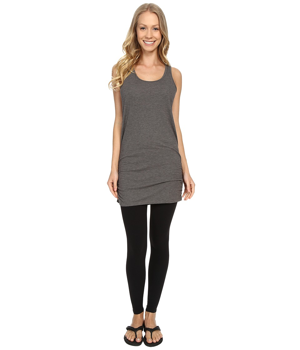 Lucy - Yoga Girl Sleeveless Tunic (Asphalt Heather) Women's Sleeveless