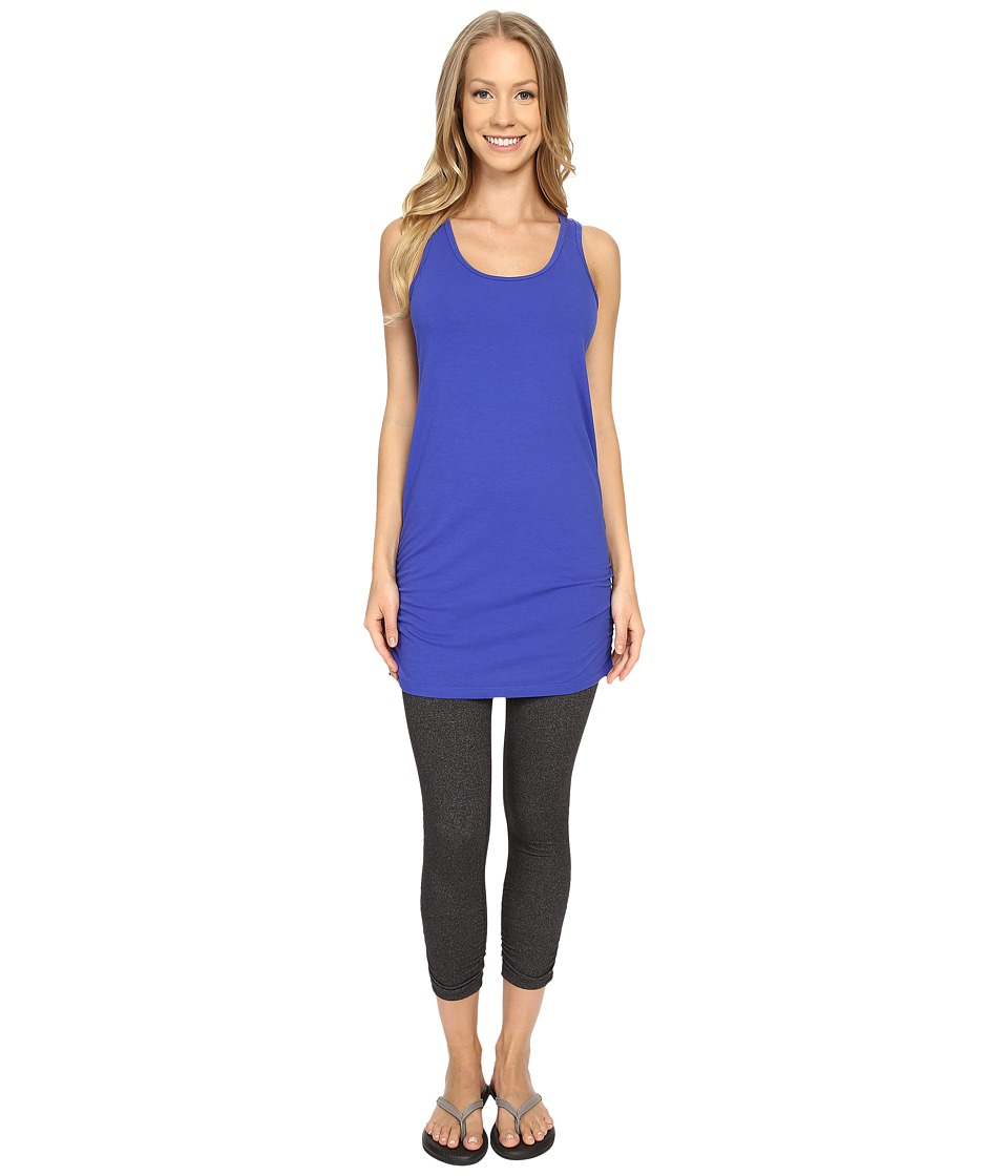 Lucy - Yoga Girl Sleeveless Tunic (Sapphire Blue) Women's Sleeveless