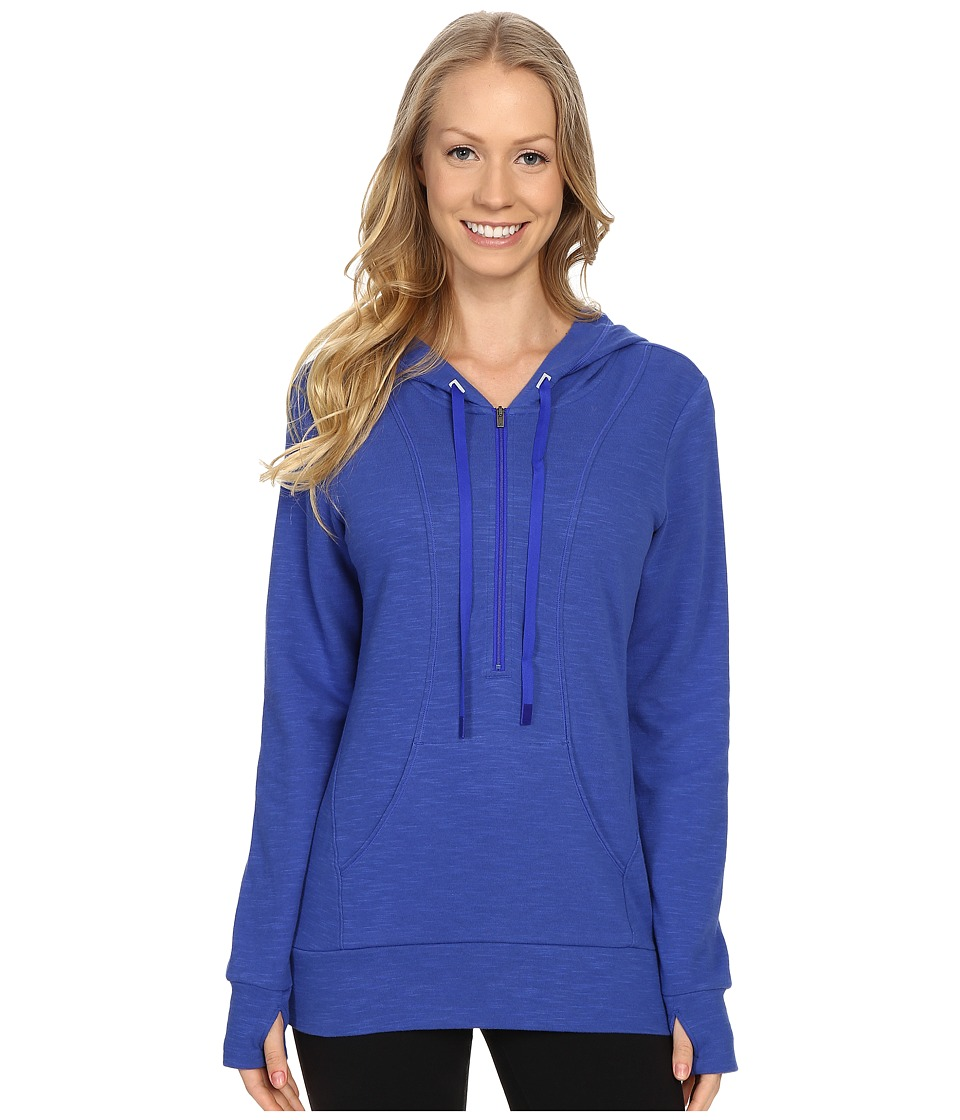 Lucy - Sexy Sweat Half Zip (Sapphire Blue) Women's Sweatshirt