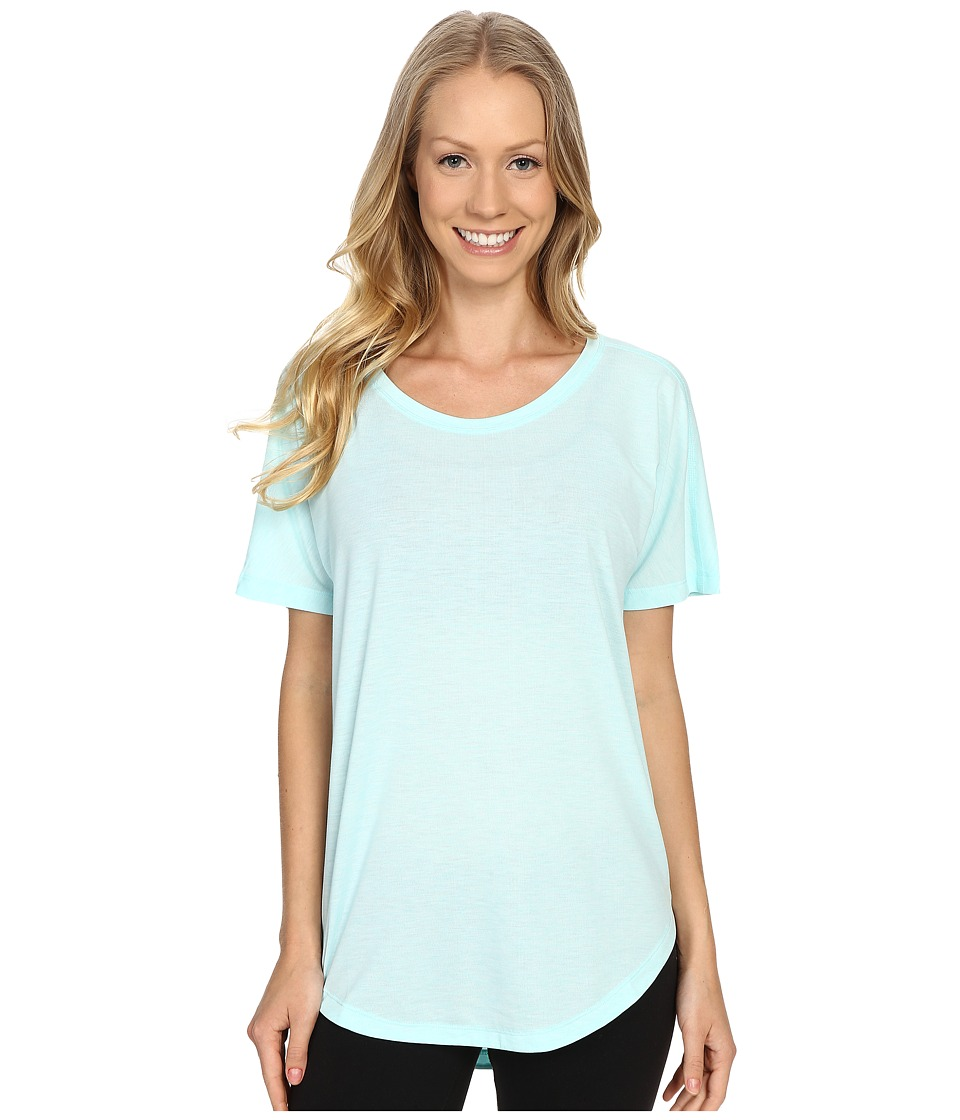 Lucy - Final Rep S/S (Mist Green Heather) Women's Short Sleeve Pullover