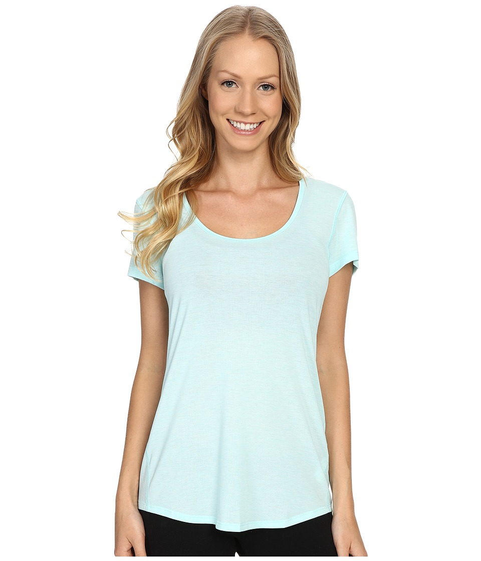 Lucy - S/S Workout Tee (Mist Green Heather) Women's Workout