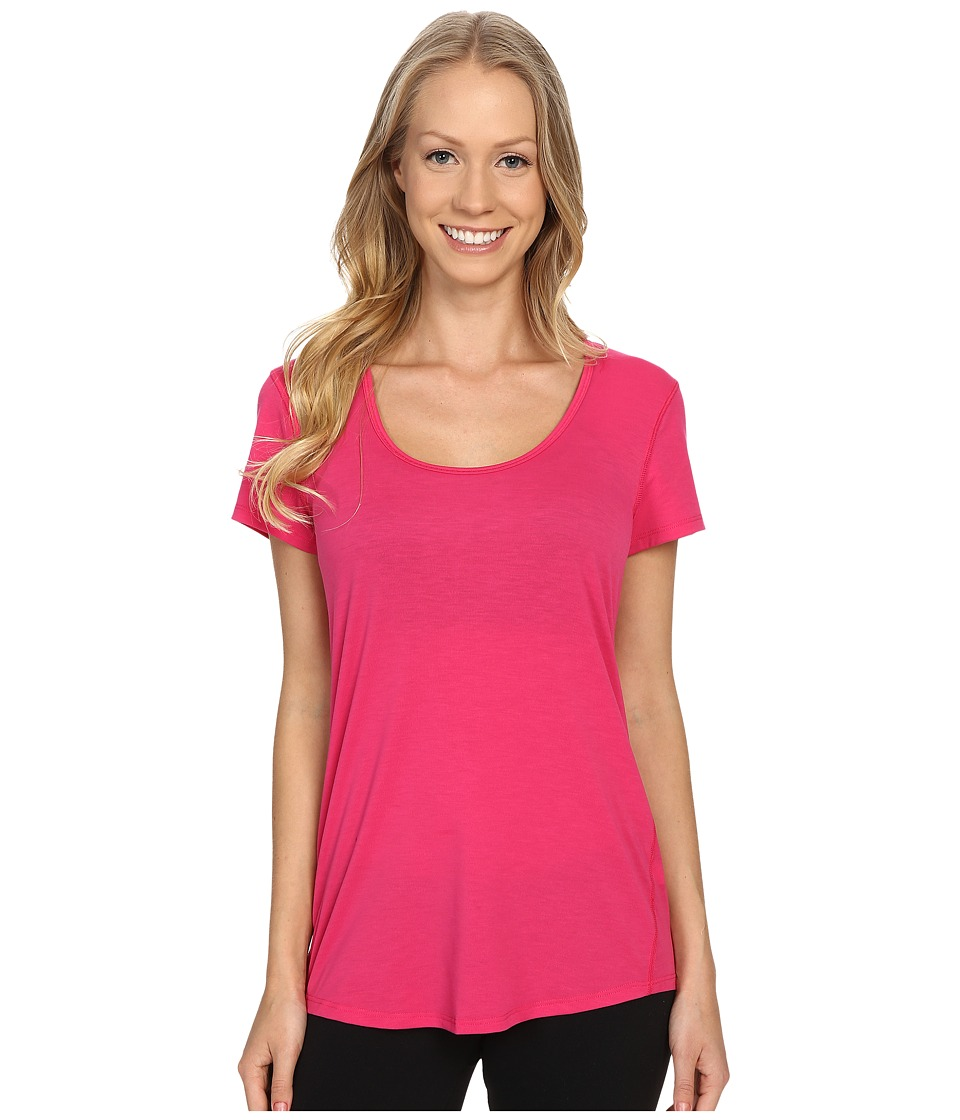 Lucy - S/S Workout Tee (Azalea) Women's Workout