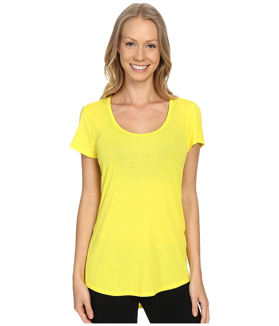 Lucy - S/S Workout Tee (Lemon) Women's Workout