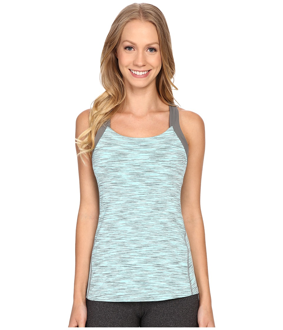 Lucy - Fitness Fix Tank Top (Mist Green Spacedye) Women's Sleeveless