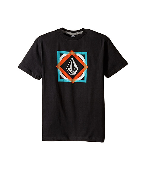 Volcom Kids - Khoi Stone Short Sleeve Tee (Big Kids) (Black) Boy's T Shirt