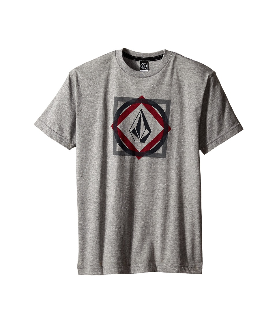 Volcom Kids - Khoi Stone Short Sleeve Tee (Big Kids) (Heather Grey) Boy's T Shirt