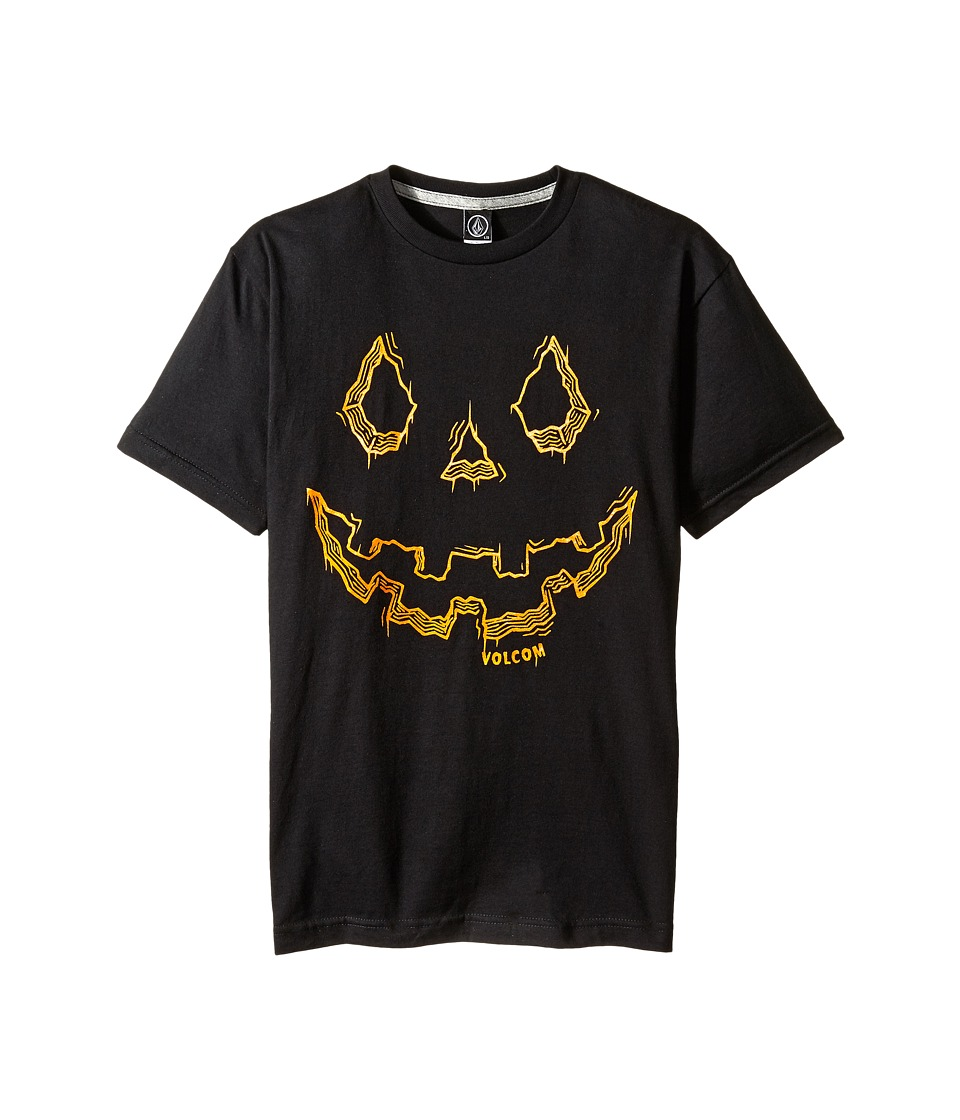 Volcom Kids - Jack O' Lantern Short Sleeve Tee (Big Kids) (Black) Boy's T Shirt