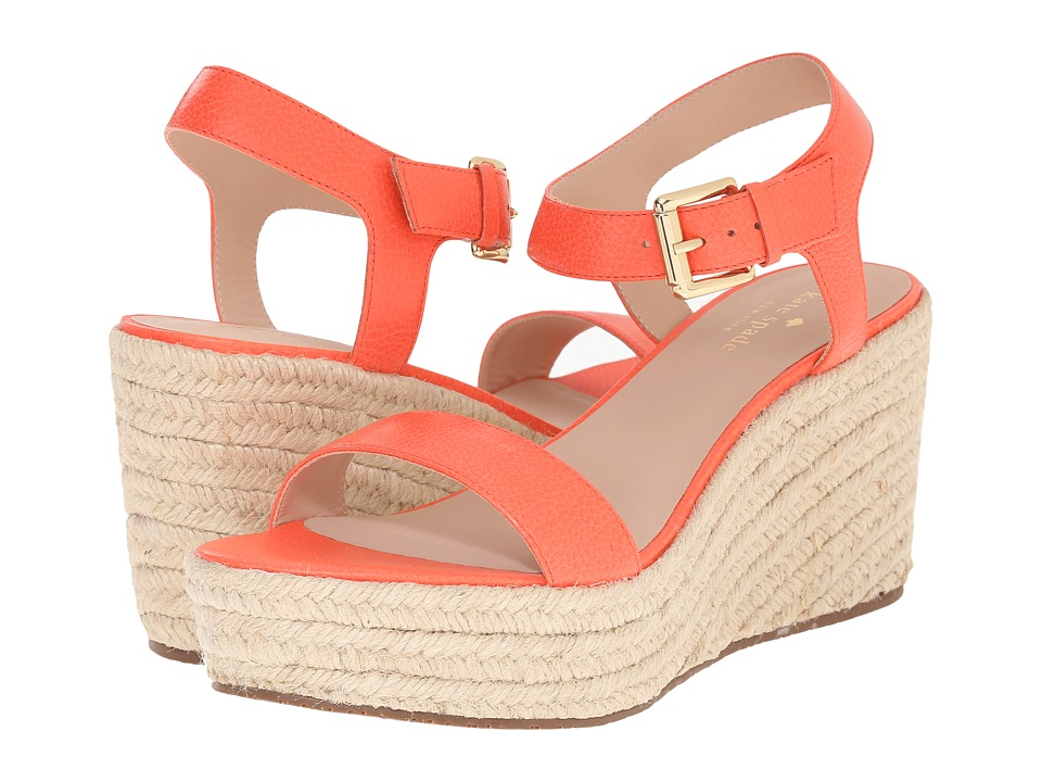 Kate Spade New York Tarin (Pop Coral Tumbled Leather) Women