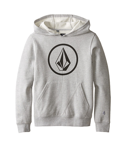 Volcom Kids - Stone Pullover (Big Kids) (Heather Grey) Boy's Sweatshirt