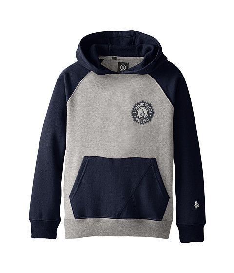 Volcom Kids - Le Conte Pullover (Big Kids) (Heather Grey) Boy's Sweatshirt
