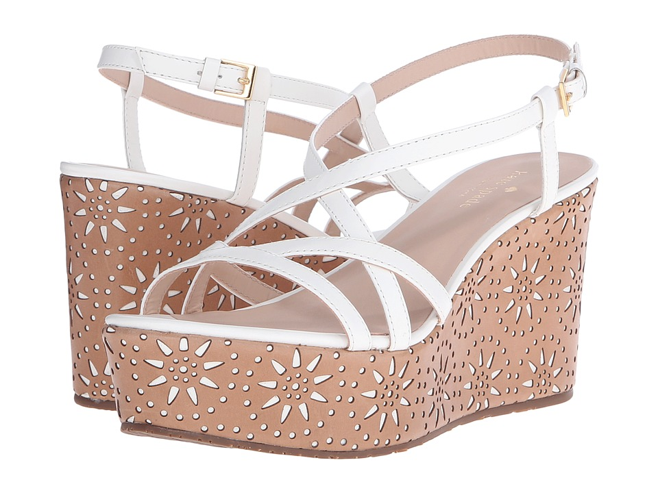 Kate Spade New York Tatiana (White Soft Vacchetta) Women