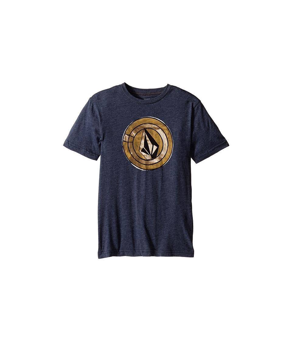 Volcom Kids - Afro Circle Short Sleeve Tee (Big Kids) (Navy) Boy's T Shirt