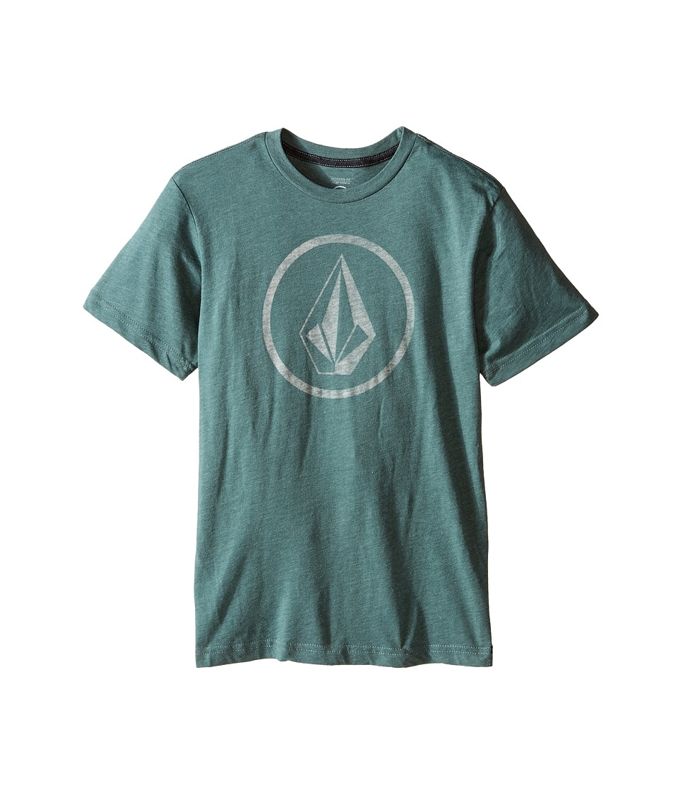 Volcom Kids - New Circle Short Sleeve Tee (Big Kids) (Forest) Boy's T Shirt