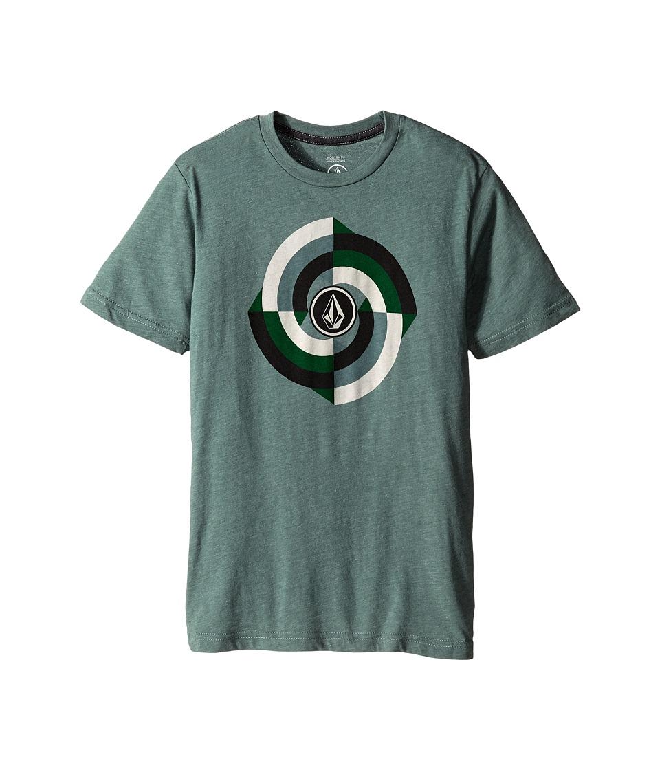 Volcom Kids - Tuckit Short Sleeve Tee (Big Kids) (Forest) Boy's T Shirt