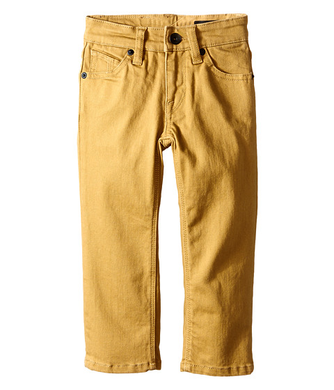 Volcom Kids - Vorta Five-Pocket Twill (Toddler/Little Kids) (Dark Khaki) Boy's Casual Pants