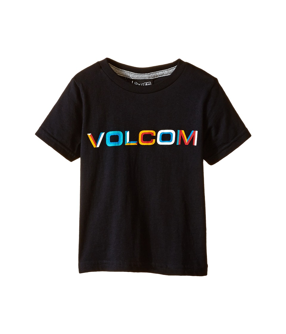 Volcom Kids - Bevel Stone Short Sleeve Tee (Toddler/Little Kids) (Black) Boy