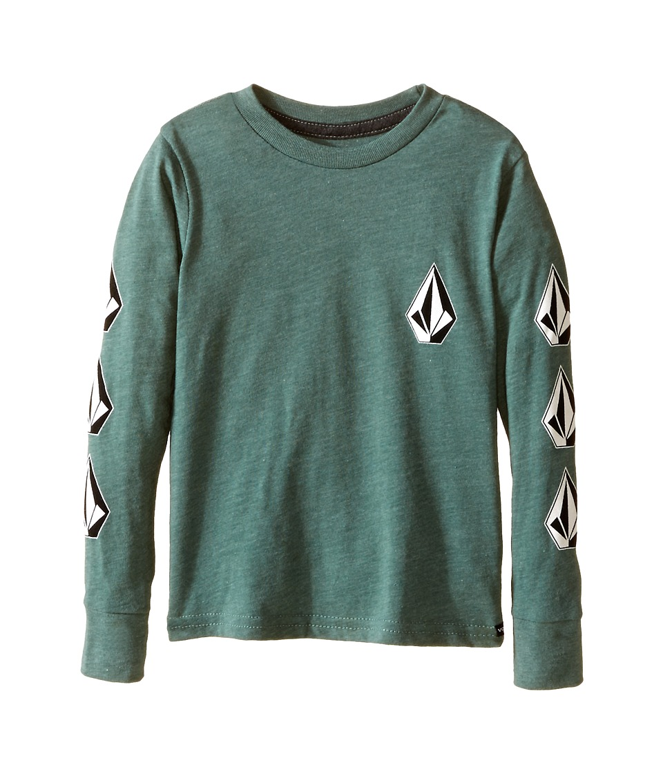 Volcom Kids - Say When Long Sleeve Tee (Toddler/Little Kids) (Forest) Boy's T Shirt