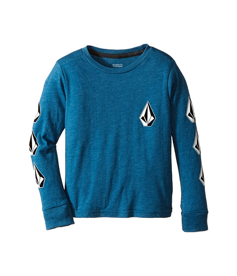 Volcom Kids - Say When Long Sleeve Tee (Toddler/Little Kids) (Sun Faded Indigo) Boy's T Shirt