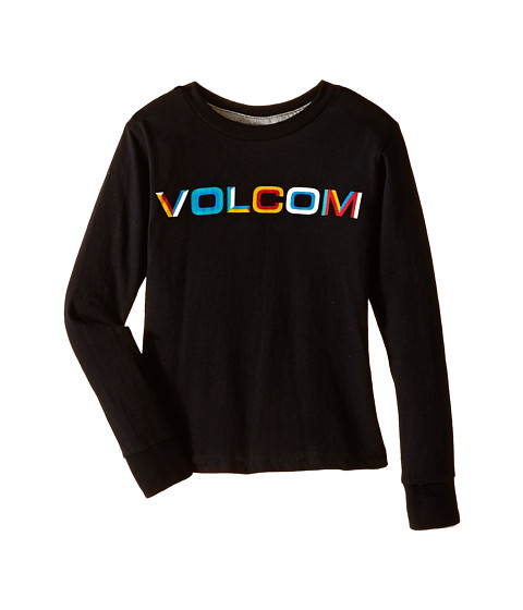 Volcom Kids - Bevel Stone Long Sleeve Tee (Toddler/Little Kids) (Black) Boy's T Shirt
