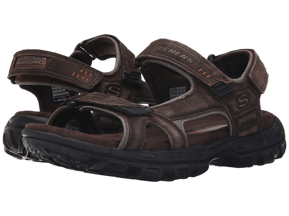 SKECHERS - Relaxed Fit 360 Gander - Alec (Black) Men's Sandals