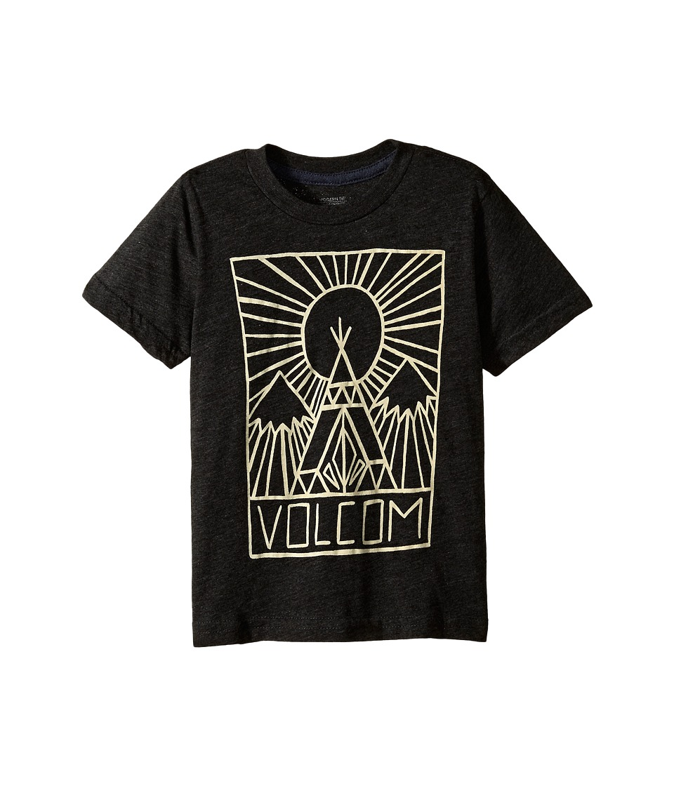 Volcom Kids - Squash Stone Short Sleeve Tee (Toddler/Little Kids) (Heather Black) Boy's T Shirt