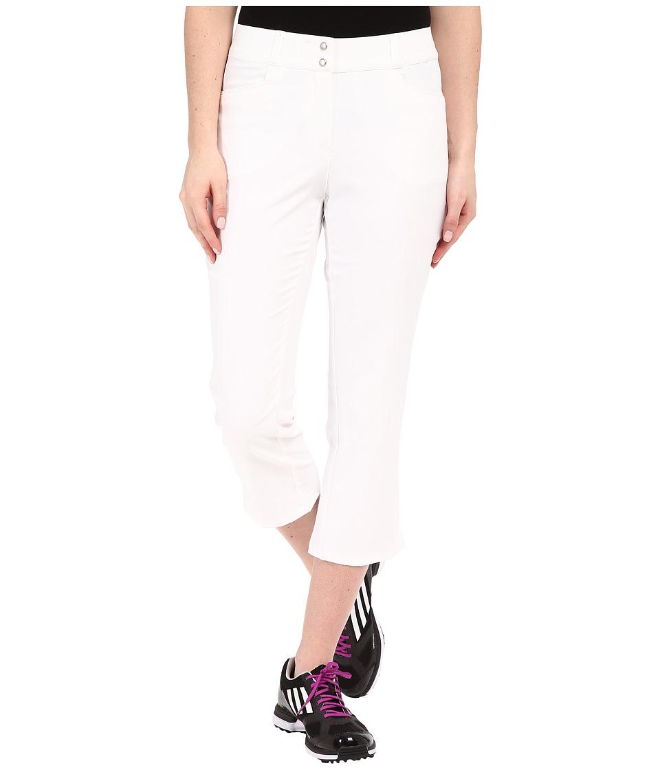 adidas Golf Essentials Lightweight Capris (White) Women