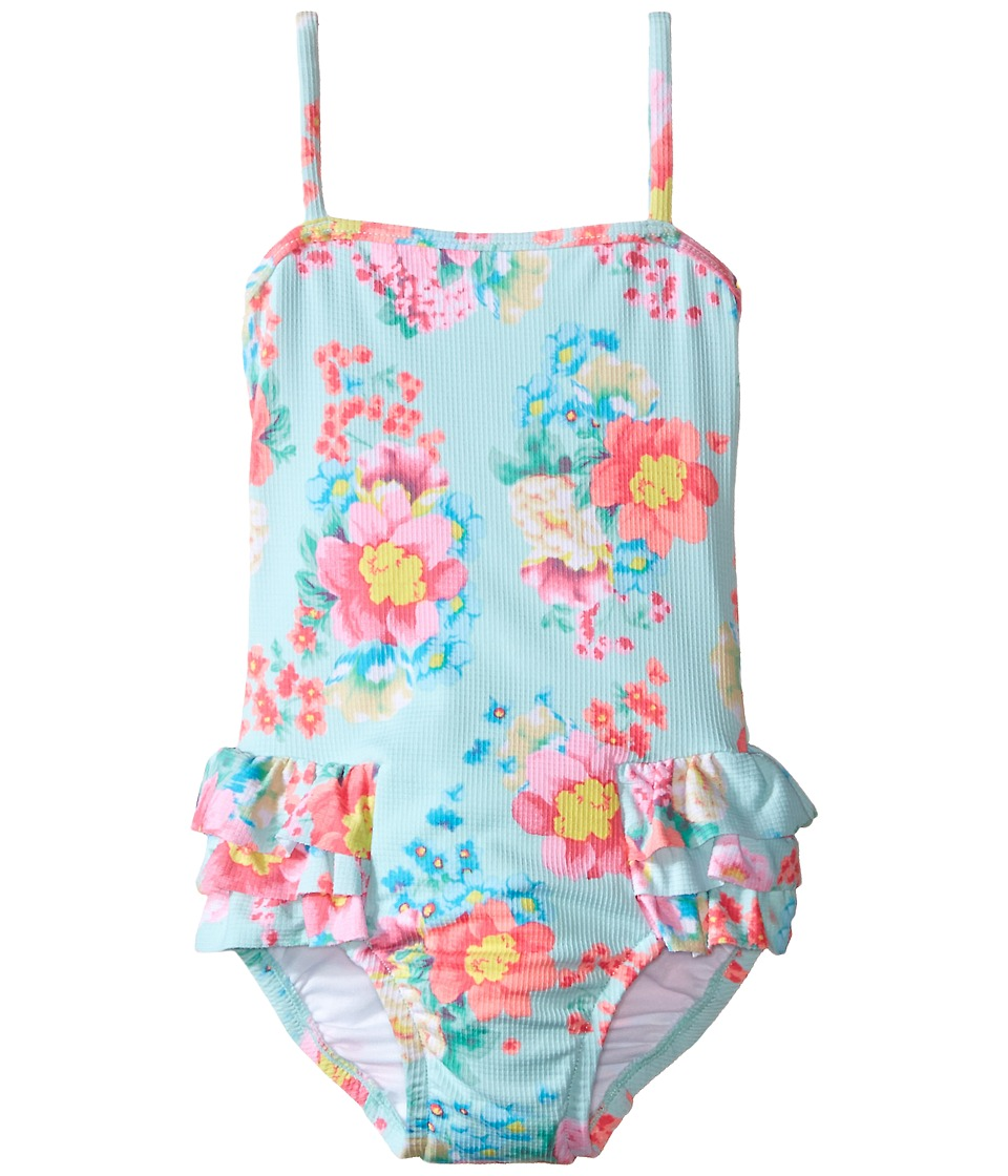 Seafolly Kids - Spring Bloom Tube Tank One-Piece (Infant/Toddler/Little Kids) (Multi Floral) Girl's Swimsuits One Piece