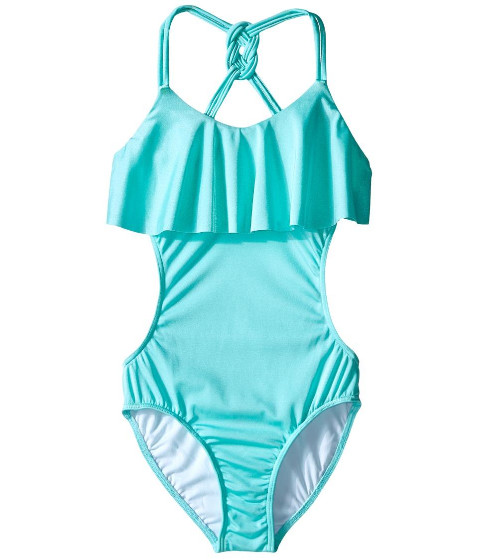 Seafolly Kids - Pool Party Cut Out Tank Top (Little Kids/Big Kids) (Peppermint) Girl's Swimwear