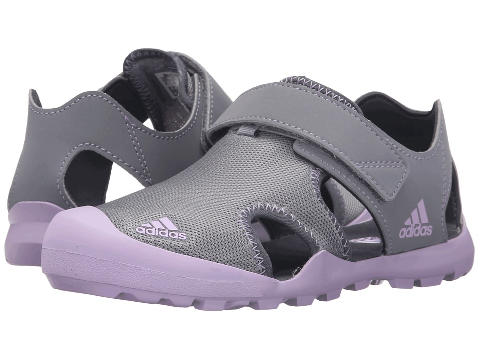 adidas Outdoor Kids - Captain Toey (Toddler/Little Kid/Big Kid) (Grey/Purple Onix) Girls Shoes