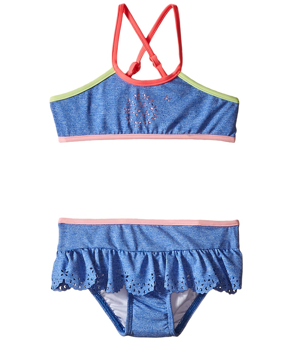 Seafolly Kids - Jewel Cove Apron Tankini (Toddler/Little Kids) (Denim Blue) Girl's Swimwear