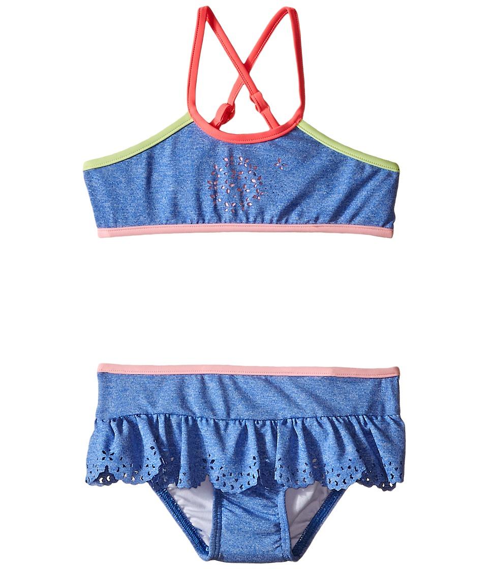 Seafolly Kids Jewel Cove Apron Tankini (Toddler/Little Kids) (Denim Blue) Girl