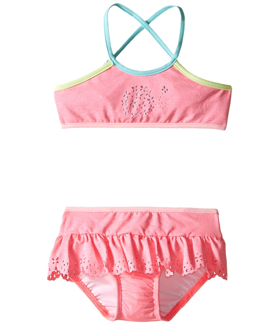 Seafolly Kids - Jewel Cove Apron Tankini (Toddler/Little Kids) (Pink Soda) Girl's Swimwear