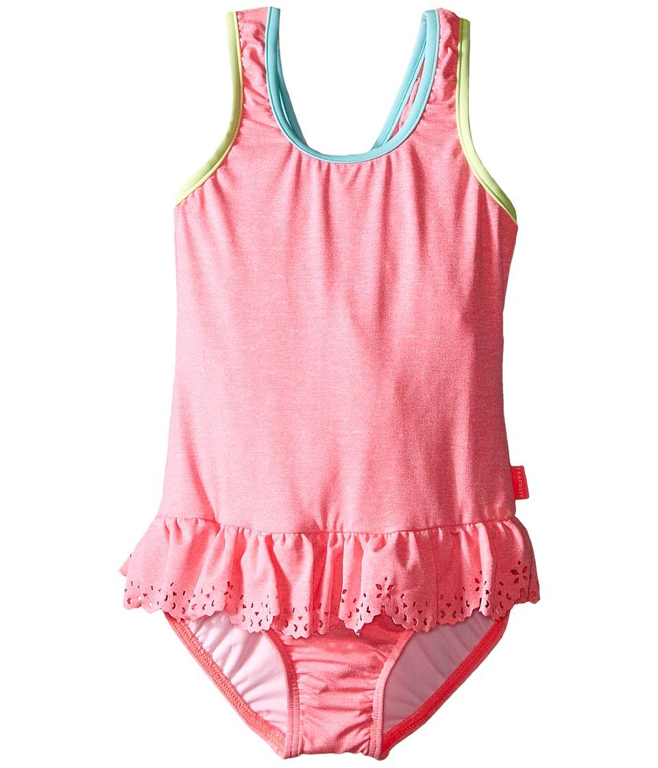 Seafolly Kids - Jewel Cove Action Back Tank Top (Toddler/Little Kids) (Pink Soda) Girl's Swimwear